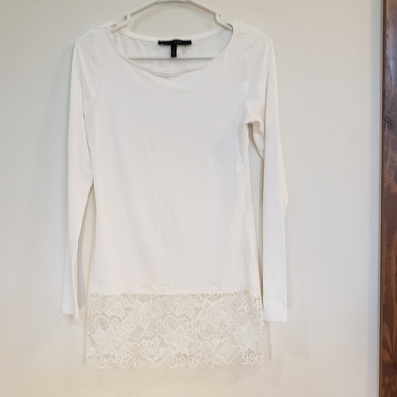 White House Black Market Tops - WHBM long sleeve lace top